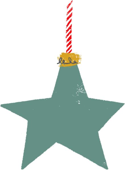 Green Star Bauble