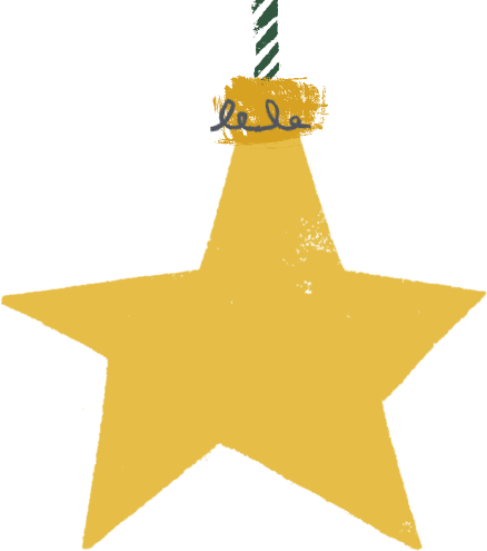 Yellow Star Bauble